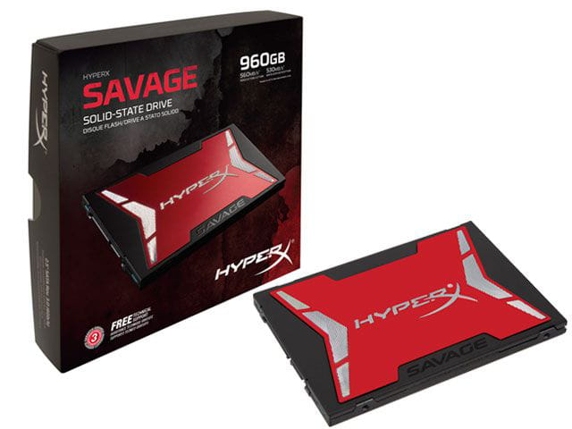 Ssd gamer hyperx shss37a/960g savage 960gb 2.5