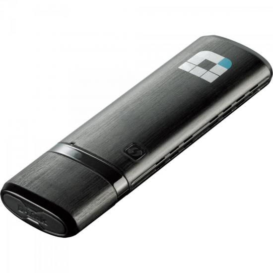 Adaptador Wireless Dual Band USB DWA-182 Preto D-LINK
