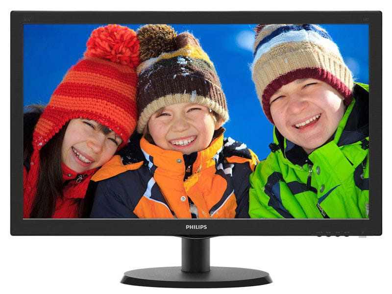 Monitor led 18,5 philips 193v5lsb2 18,5 led 1366 x 768 wide vga vesa preto