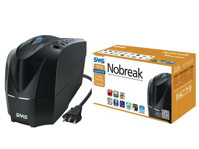 Nobreak SMS 700VA New Station Monovolt 115v - 27916