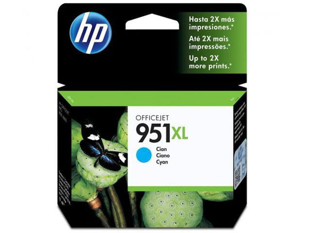 Cartucho de tinta officejet hp suprimentos cn046ab hp 951xl ciano 17 ml
