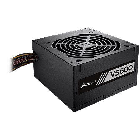 Fonte 600W Corsair VS600 80Plus White Atx PFC Ativo - CP-9020119-LA