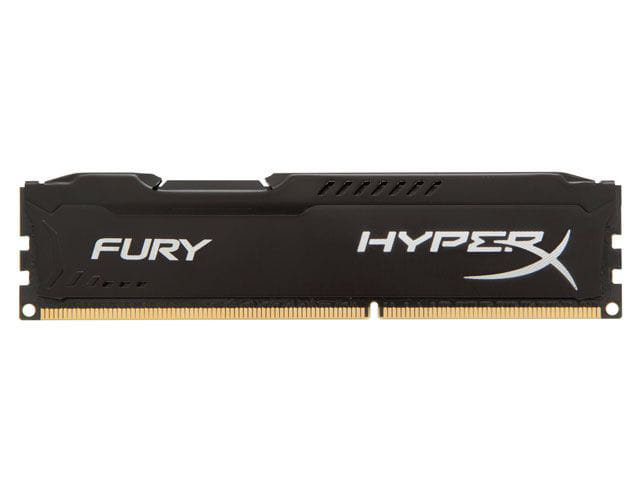Memoria desktop gamer ddr3 hyperx hx316c10fb/4 fury 4gb 1600mhz ddr3 non-ecc cl10 240-pin udimm black