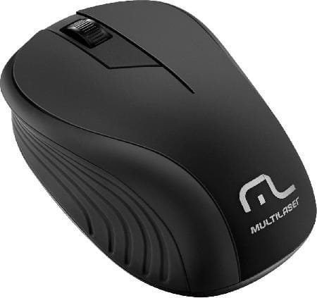 Mouse Multilaser Sem Fio 2.4GHz Preto USB Plug and Play 1200DPI - MO212