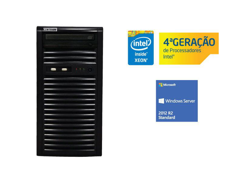 Servidor torre intel windows server centrium sc-t1200 quad core xeon 1271v3 3.6ghz 8gb udimm 1tera 2012 standard
