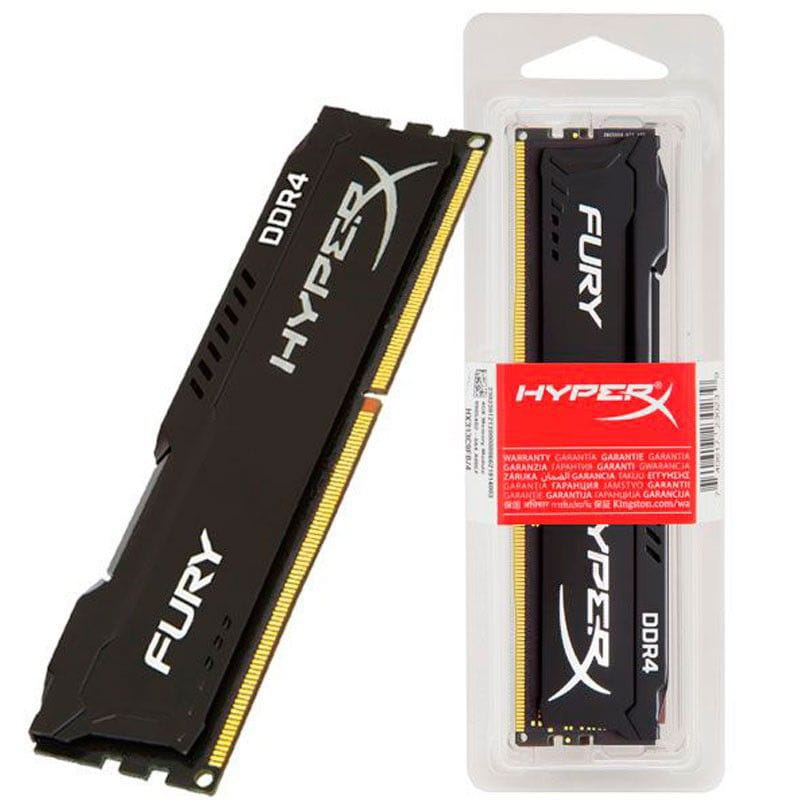 Memória 4GB 2400Mhz DDR4 HyperX FURY CL15 Black Series - HX424C15FB/4