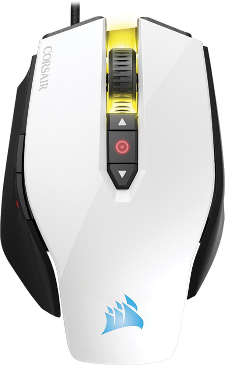 Mouse gaming optico m65 12000 dpi pro branco ch-9300111-na