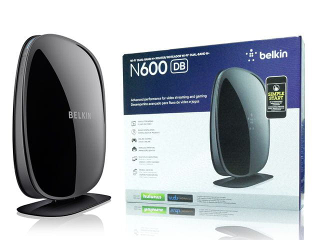 Roteador wireless belkin f9k1102v3 n600 mpbs dual band 2,4/5ghz 4 port. 4 antenas interna