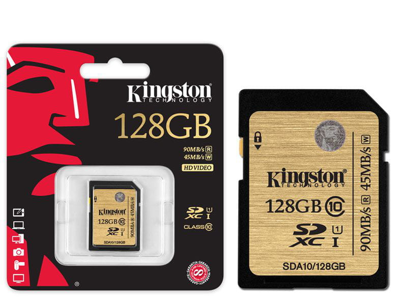 Cartao de memoria classe 10 kingston sda10/128gb secure digital ultimate sdxc 128gb uhs-i