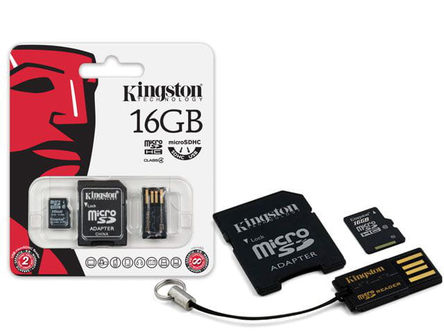 Cartão SD 16GB Kingston Multikit Micro SD 16GB SD + USB - MBLY4G2/16GB