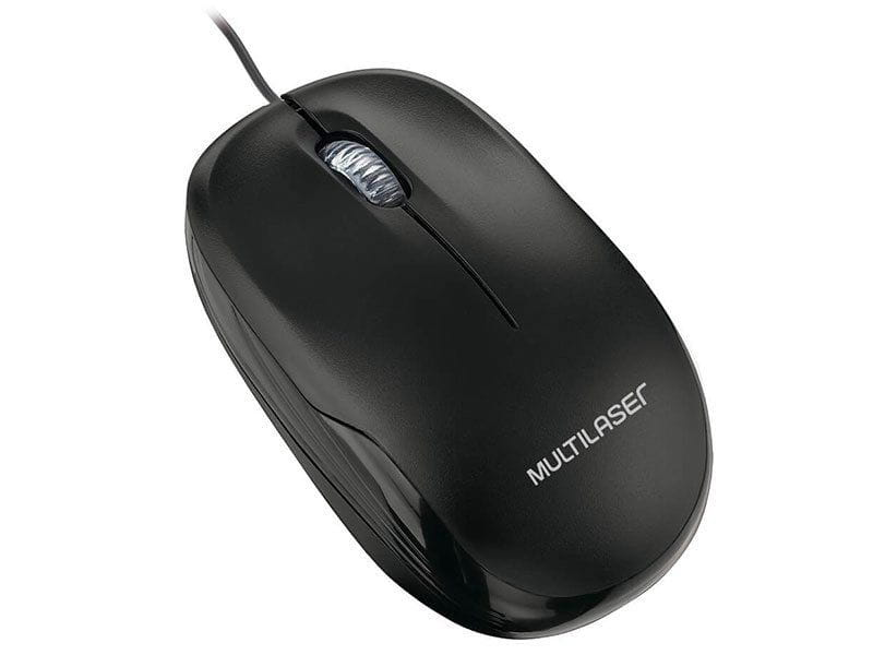 Mouse Multilaser Optico 1200DPI USB Preto - MO255