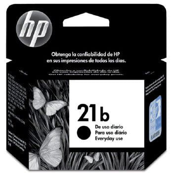 Cartucho de tinta hp  n  21b preto everyday  - c9351bb