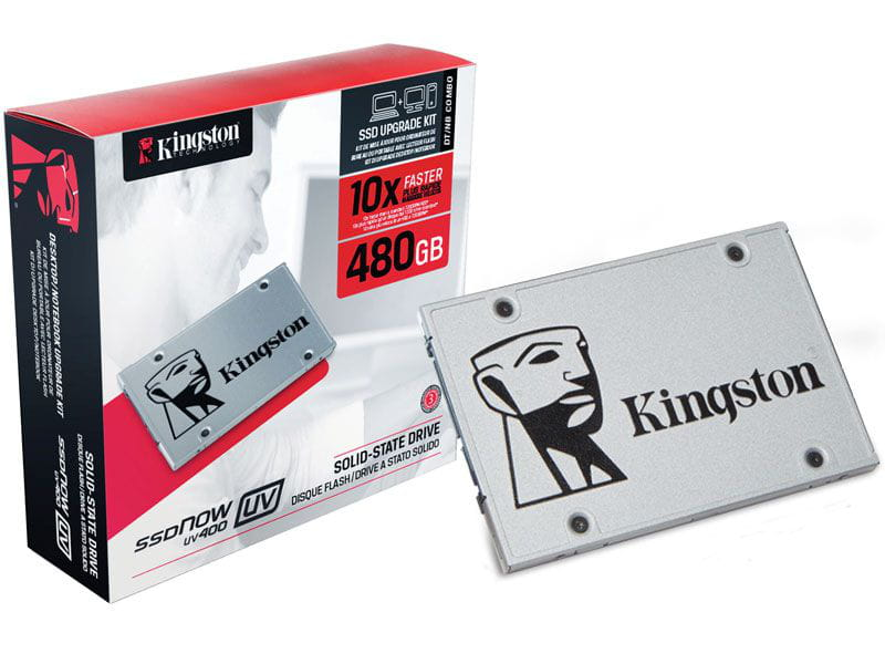 Ssd sata desktop notebook kingston suv400s3b7a/480g uv400 kit upgrade 480gb 2.5