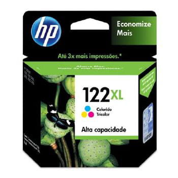 Cartucho de tinta hp n  122xl color  - ch564hb