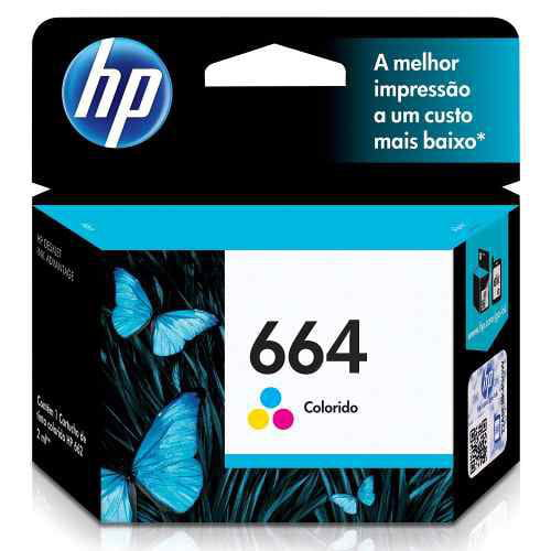 Cartucho hp 664 color 2ml - F6V28AB
