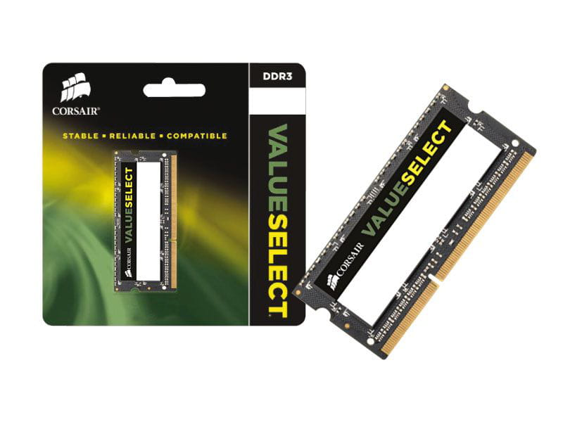 Memoria notebook ddr3 corsair cmso8gx3m1c1600c11 8gb 1600mhz ddr3l cl11 sodimm 1.35v