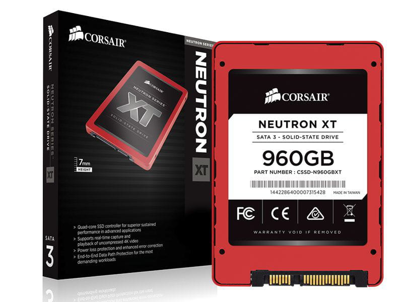 Ssd desktop notebook gamer corsair cssd-n960gbxtb neutron xt 960gb 2.5