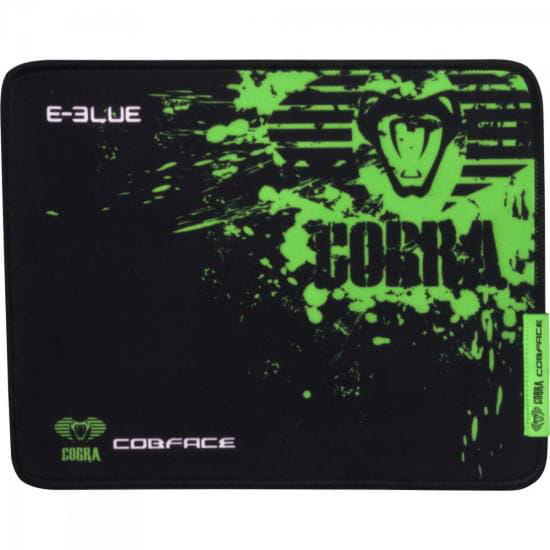 Mouse Pad E-Blue Cobra Preto e Verde 265x365mm Médio Gamer - 52190
