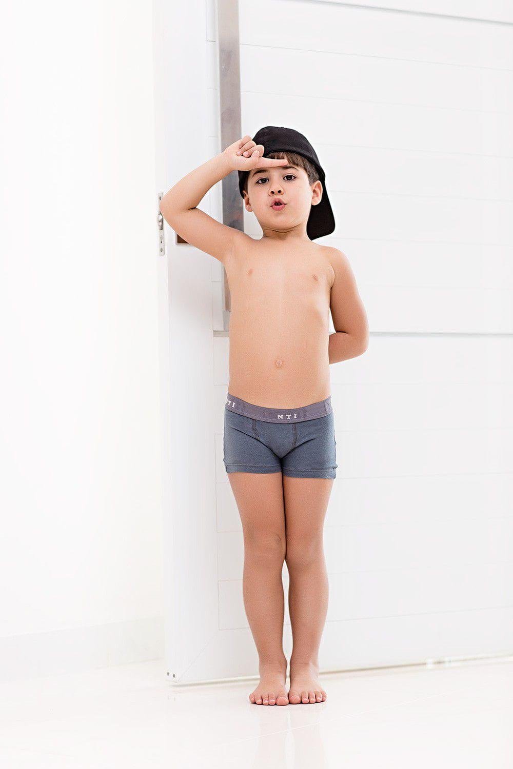 Cueca Boxer Kids Cotton Kit Com 3