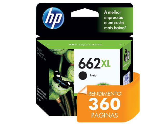 Cartucho HP 662Xl Preto 6,5 Ml - CZ105AB