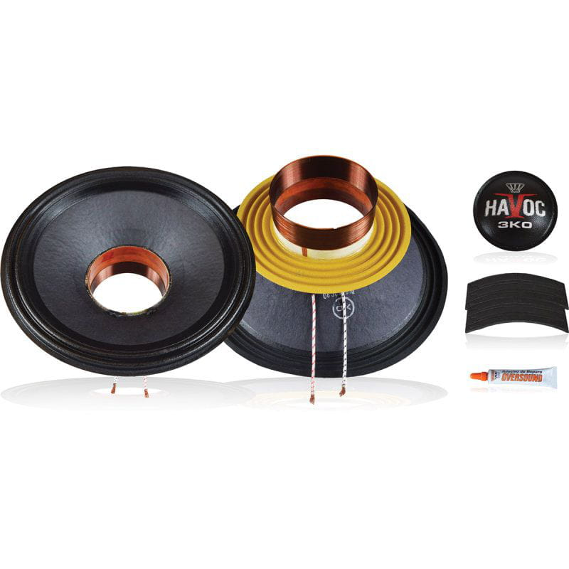 Kit P/ Reparo Woofer 12 Pol. de 1.500wrms 4ohms - Havoc 12 3k0 Oversound
