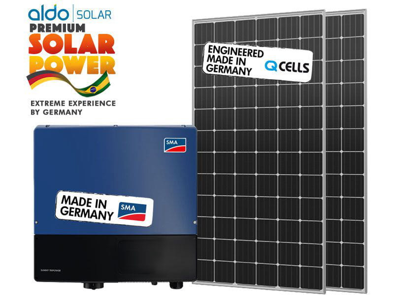 Gerador de energia sma p madeira k2 aldo solar gef 24,82kwp q cells mono perc 365w sunny 25kw 2mppt trif 380v