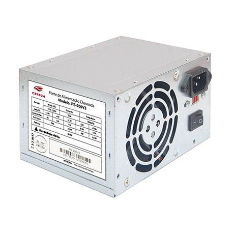 Fonte C3-Tech 200W ATX Sem Cabo PS-200V3
