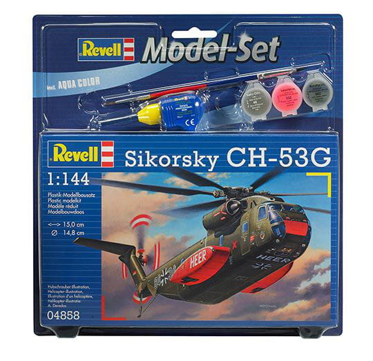 Helicóptero CH-53G 1:144 REV 64858 - Kit Completo para Montar (Model Set)