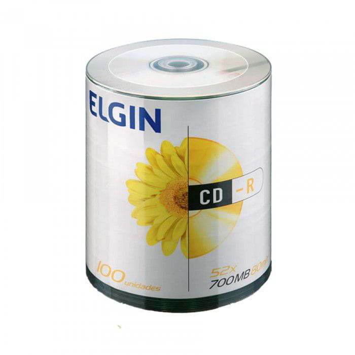 CD-R COM LOGOMARCA ELGIN 700/80/52X C/100