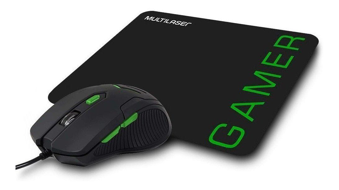 MOUSE GAMER + MOUSE PAD MULTILASER - MO273