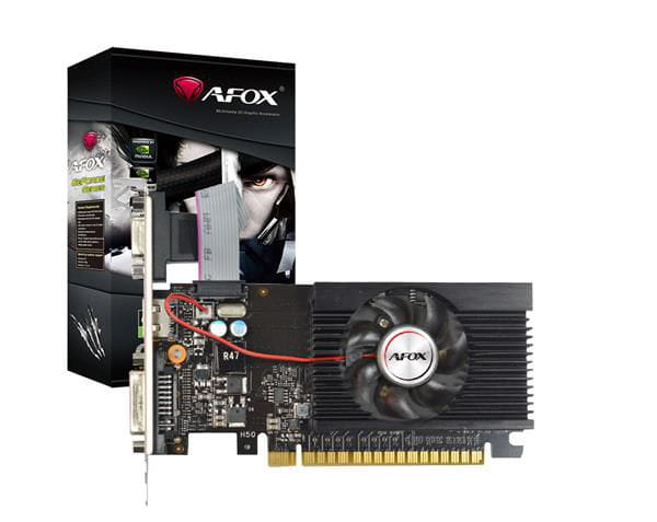 Placa de video afox geforce gt710 2gb ddr3 64bit - hdmi - dvi - vga - af710-2048d3l5-v3