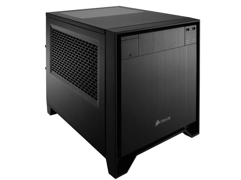 Gabinete gamer corsair cc-9011047-ww obsidian 250d mini itx black