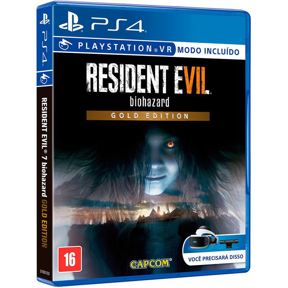 JOGO RESIDENT EVIL 7 BIOHAZARD - GOLD EDITION - PS4