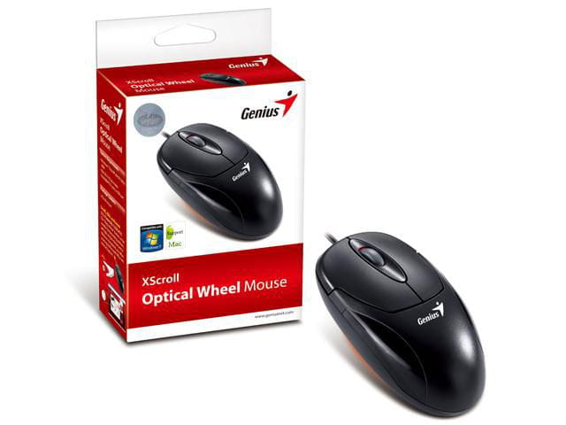 Mouse Genius PS2 Xscroll Preto 800Dpi - 31010144101