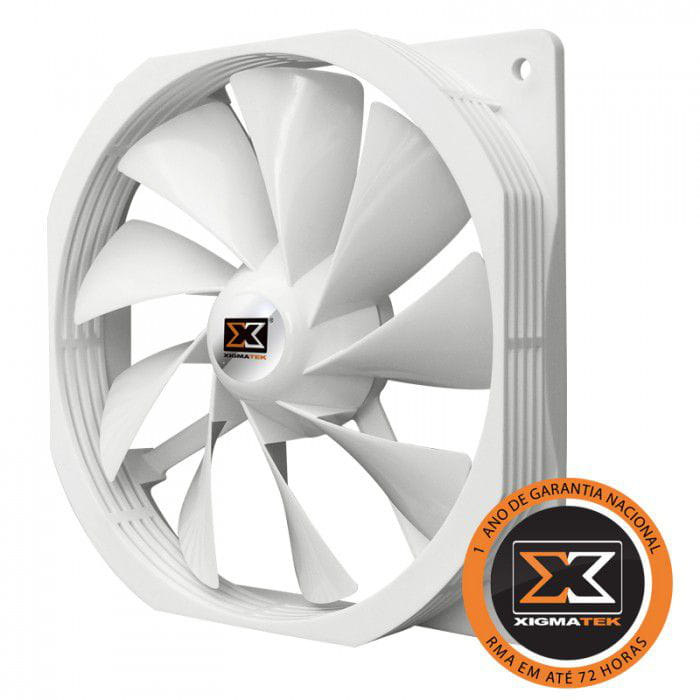 Cooler Gabinete 120mm Xigmatek XOF Colorful Branco XOF-F1251 - CFS-OXGKS-WU1