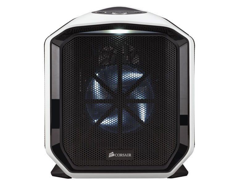 Gabinete gamer corsair cc-9011060-ww graphite series 380t mini-itx branco