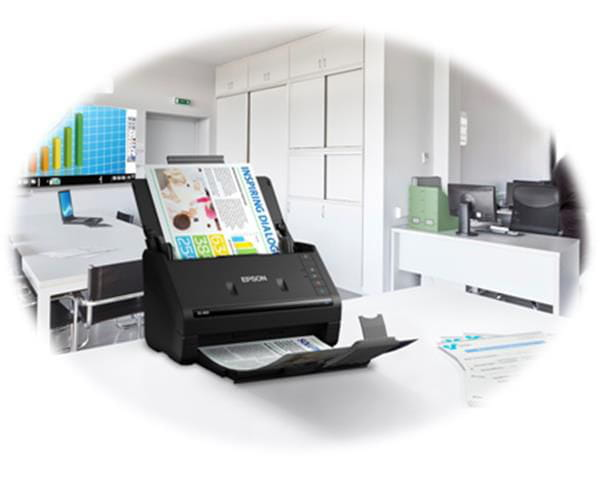 Scanner epson colorido de documentos workforce es-400 - b11b226201