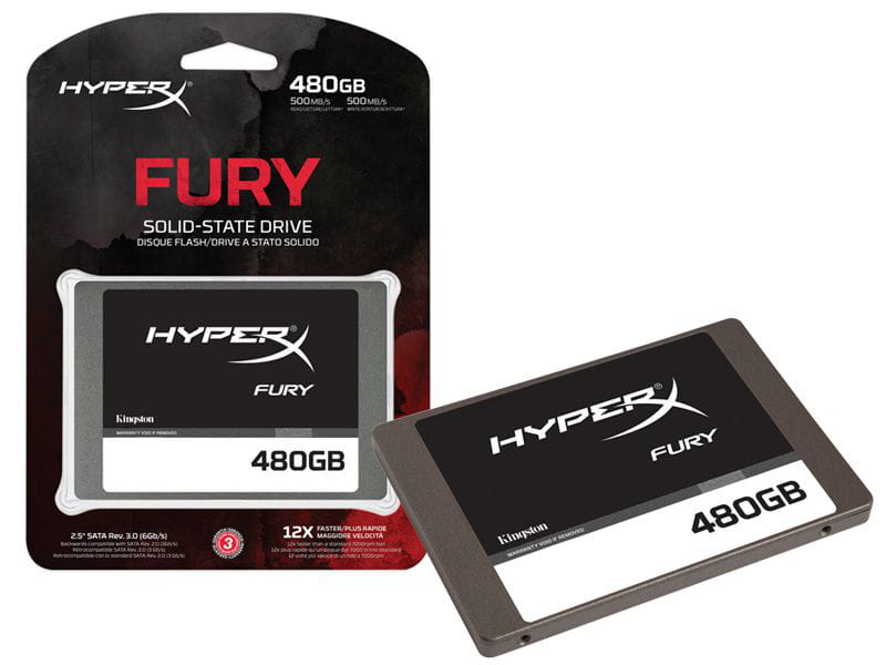Ssd gamer hyperx shfs37a/480g fury 480gb 2.5