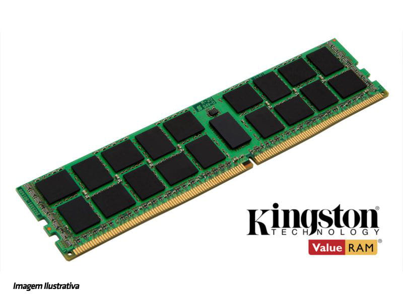 Memoria servidor ddr4 kingston kvr21r15d4/16 16gb 2133mhz ecc reg cl15 rdimm 288-pin 2rx4
