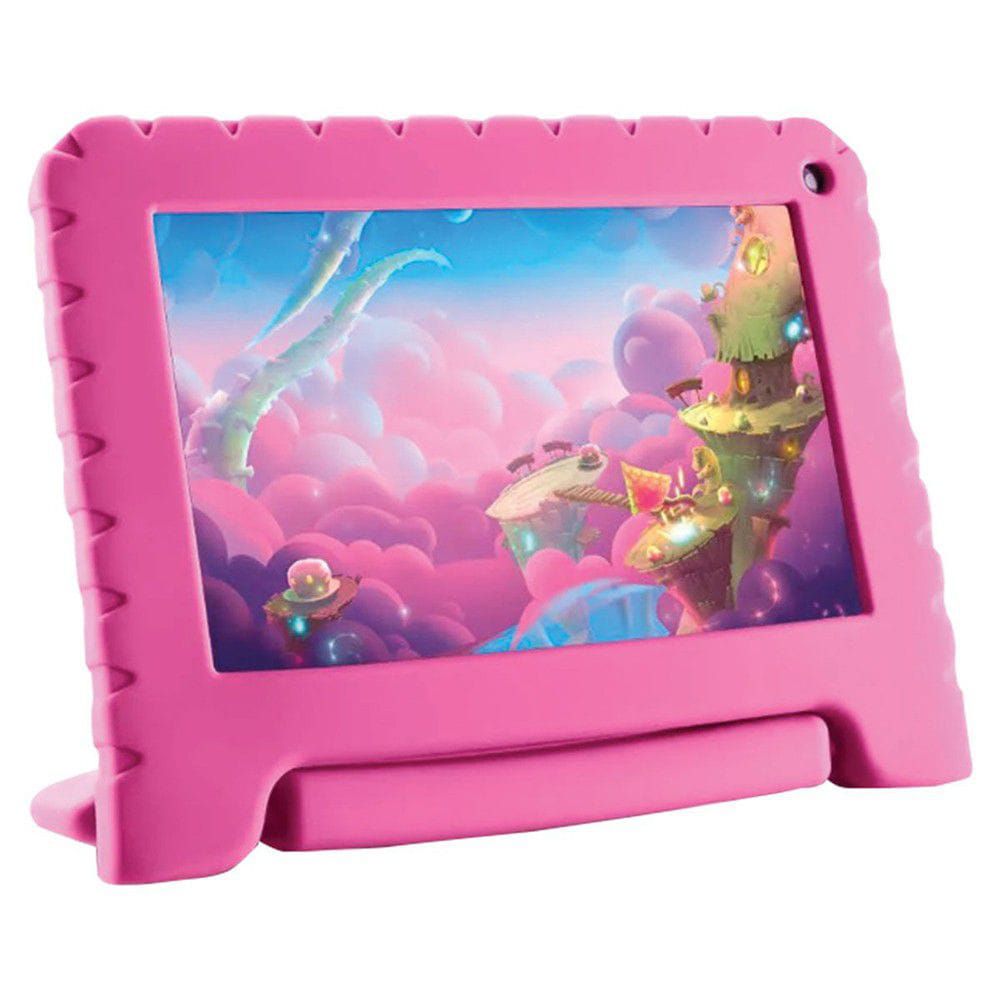 Tablet Multilaser Kid Pad Lite 7 Pol. 8GB Quad Core Android 8.1 Rosa - NB303