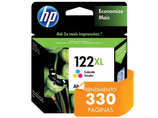Cartucho de Tinta HP 122XL Tricolor 7,5ml - CH564HB