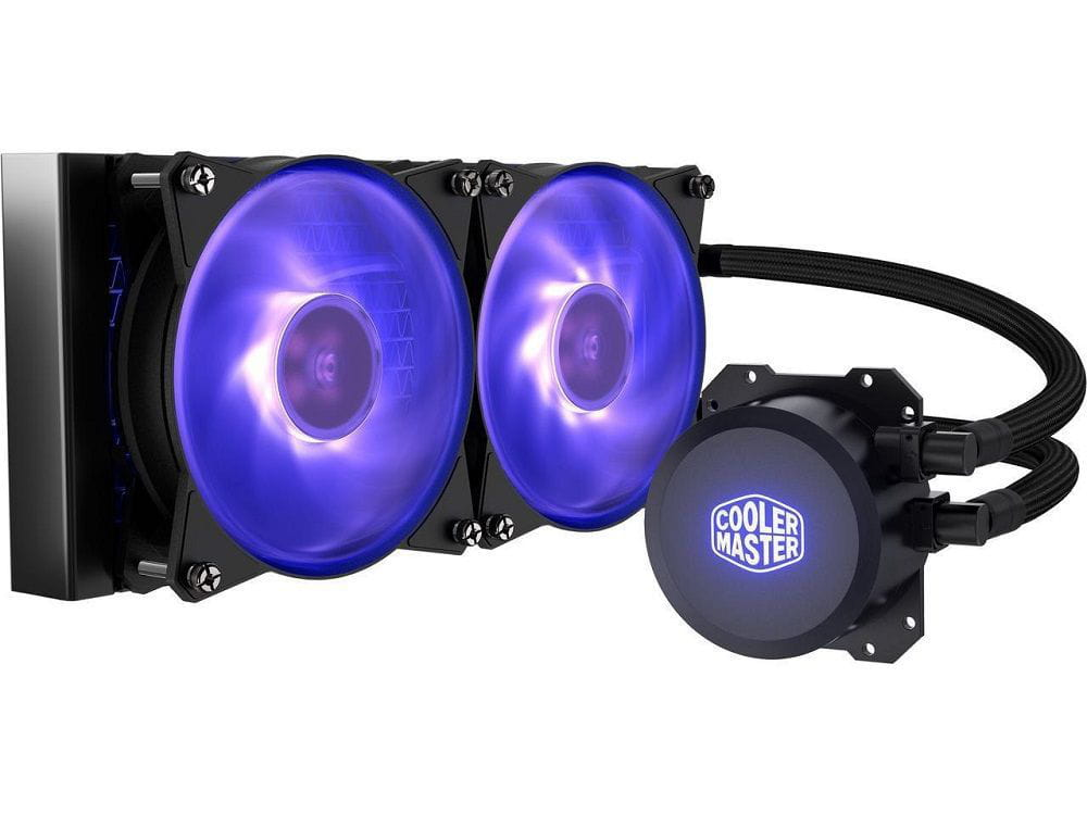 Water cooler master liquid ml240l 240mm rgb - mlw-d24m-a20pc-r1