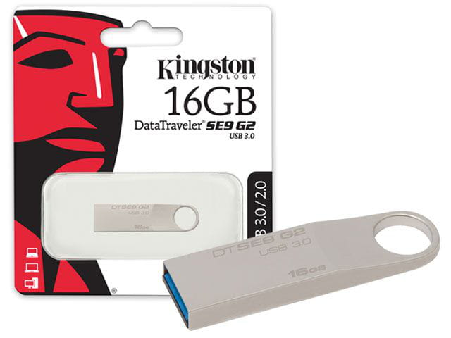 Pen Drive Usb 3.0 Kingston DTSE9G2/16Gb Datatraveler SE9 G2 16Gb Prata