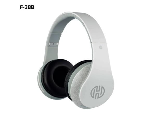 Headphone hoopson c/micro sd radio fm bluetooth branco - f-038b