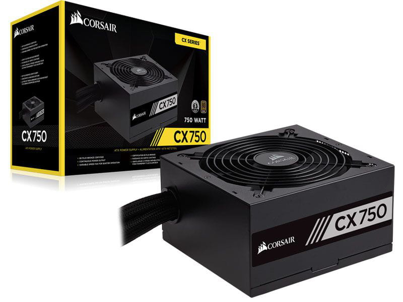 Fonte Corsair 750W CX750 80Plus Bronze PFC Ativo - CP-9020123-WW
