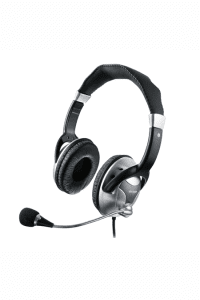 Headset Haste Flexivel metal Preto/Prata PH031