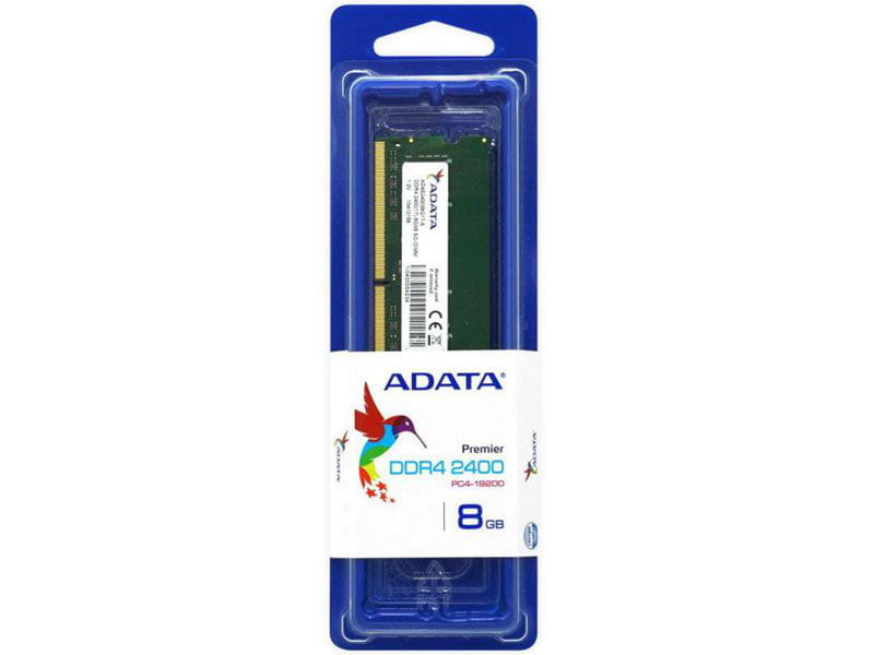 Memoria notebook ddr4 adata ad4s240038g17-s 8gb 2400mhz cl17 so-dimm 260-pin 1.2v