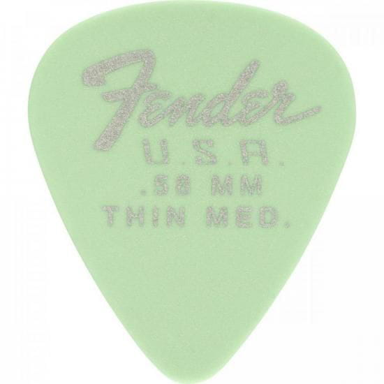 Palheta Dura-Tone 0.58 Thin Medium Surf Green FENDER - PCT / 12