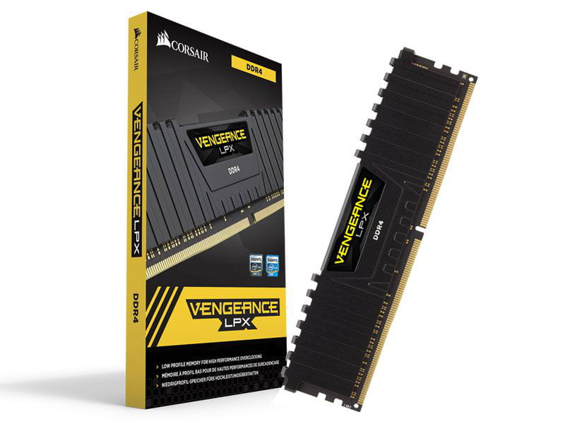 Memoria desktop gamer ddr4 corsair cmk16gx4m1a2400c16 16gb 2400mhz dimm cl16 vengeance lpx black