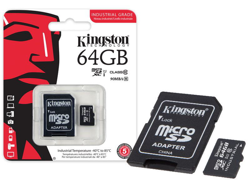 Cartão de Memoria Kingston 64GB Classe 10 Micro SDXC Industrial - SDCIT/64GB